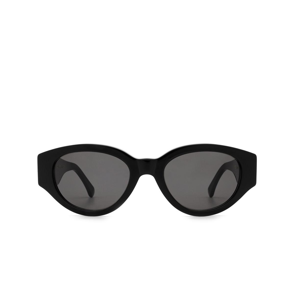 Retrosuperfuture® Oval Sunglasses: Drew Mama color Black BC8 - front view.
