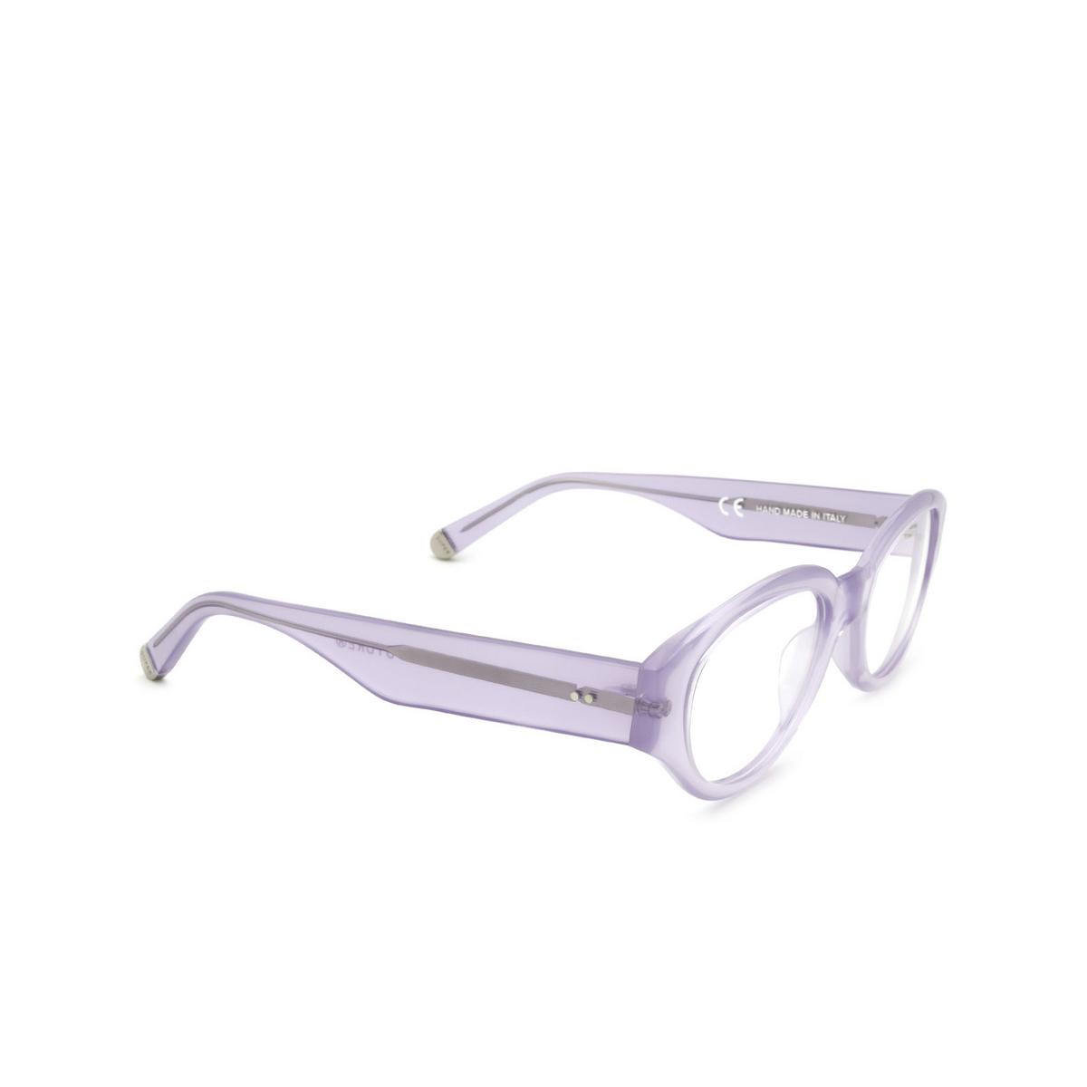 Retrosuperfuture® Oval Eyeglasses: Drew Mama Optical color Dea 7JA - three-quarters view.