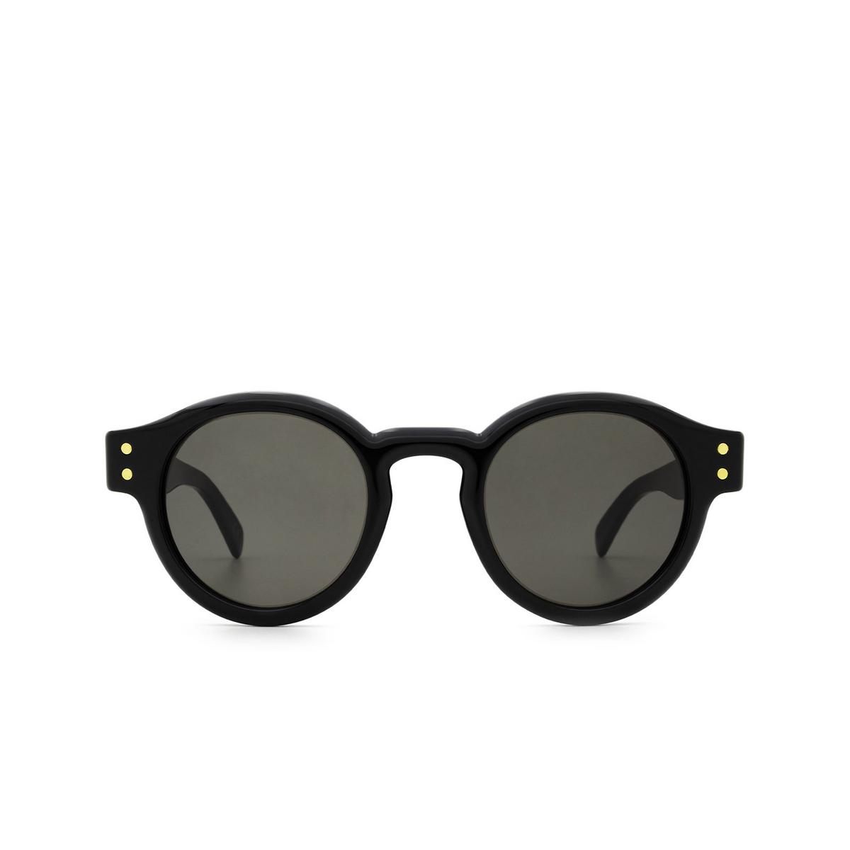 Retrosuperfuture® Round Sunglasses: Eddie color Black CC7 - front view.
