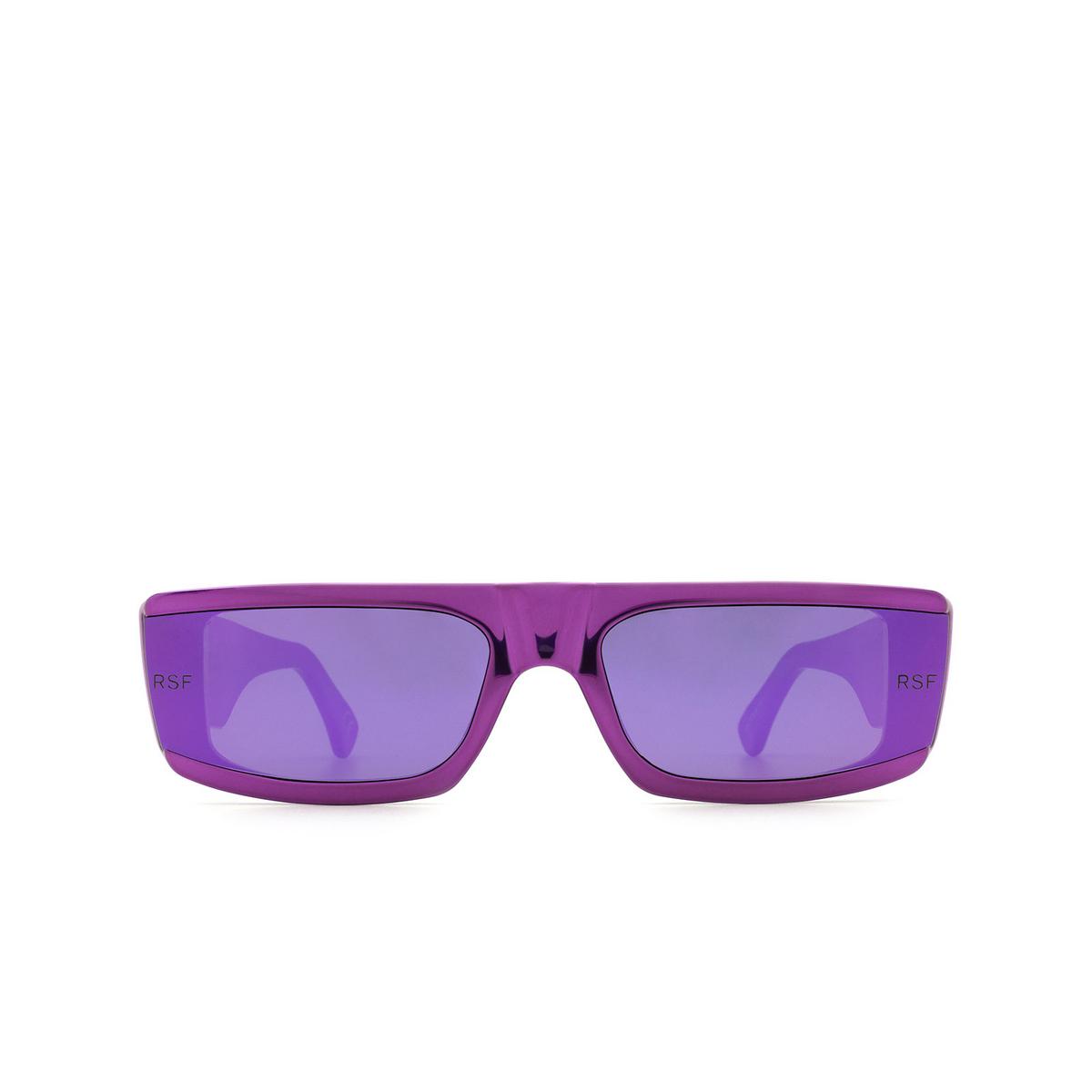 Retrosuperfuture® Rectangle Sunglasses: Issimo color Chrome Fuxia U02 - front view.