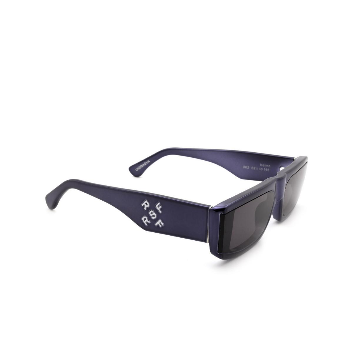 Retrosuperfuture® Rectangle Sunglasses: Issimo color Chrome Blackish UK2 - three-quarters view.