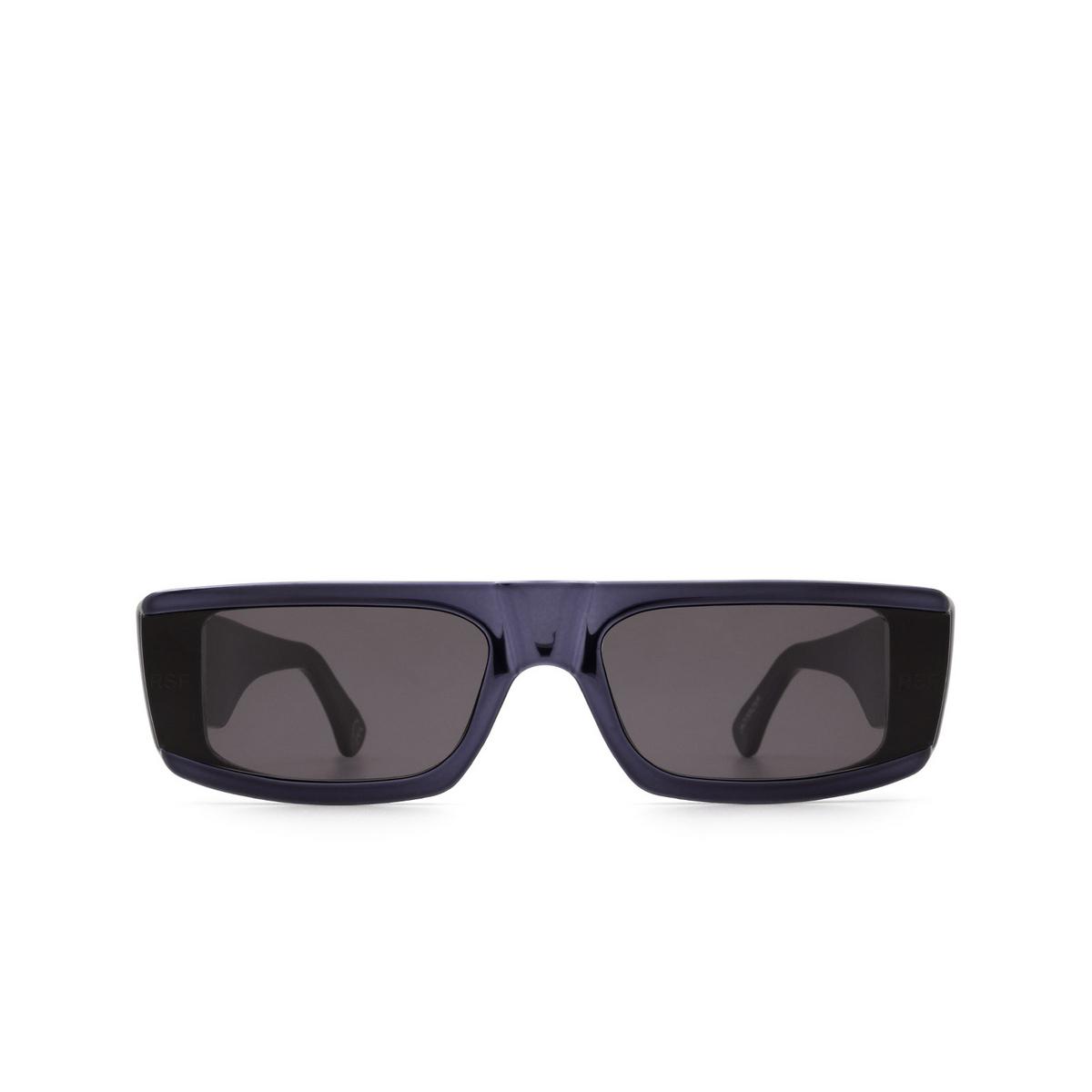 Retrosuperfuture® Rectangle Sunglasses: Issimo color Chrome Blackish UK2 - front view.