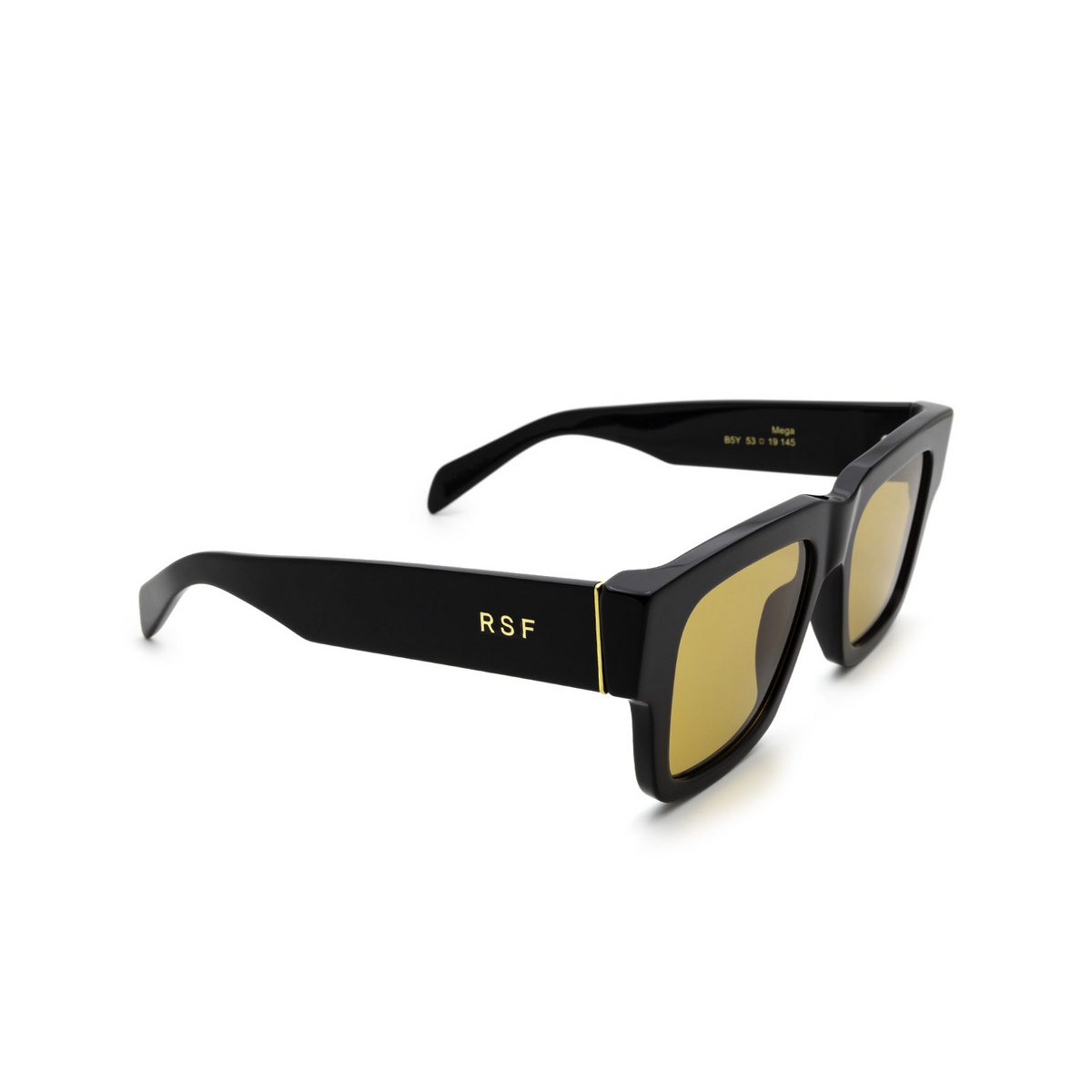 Retrosuperfuture® Square Sunglasses: Mega color Refined B5Y - three-quarters view.