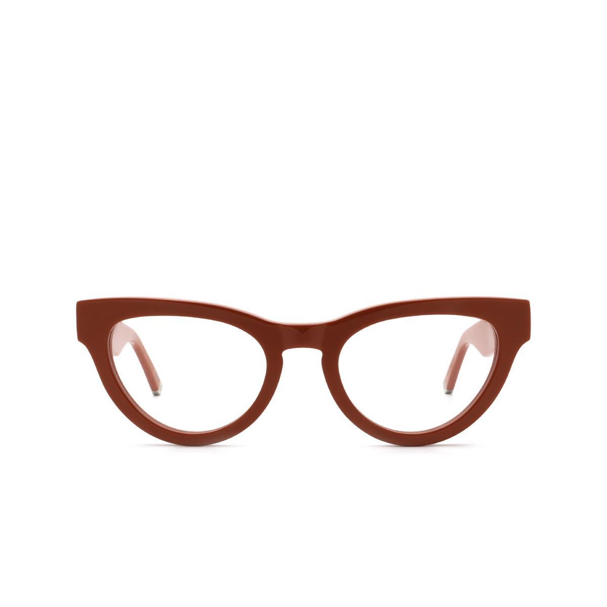 Retrosuperfuture® Cat-eye Eyeglasses: NUMERO 64 color Rosso Gza - front view.