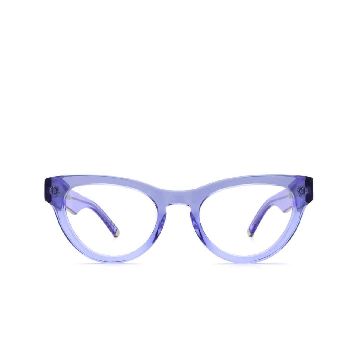 Retrosuperfuture® Cat-eye Eyeglasses: NUMERO 64 color Crystal Celeste U3A - front view.