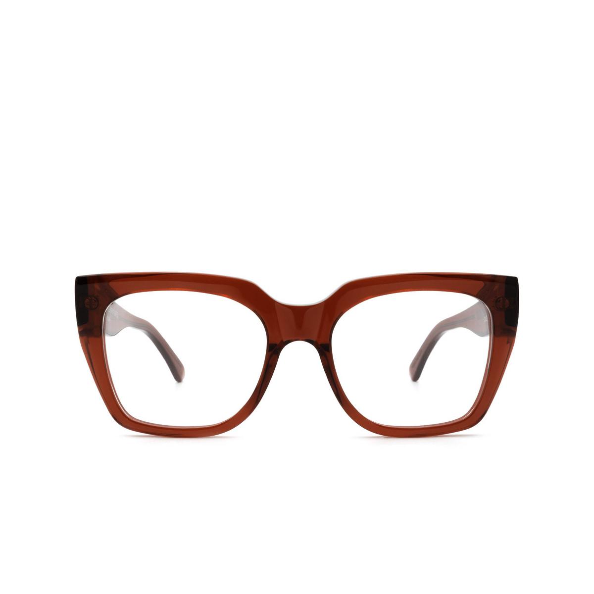 Retrosuperfuture® Square Eyeglasses: NUMERO 76 color Rosso Profondo CX2 - front view.