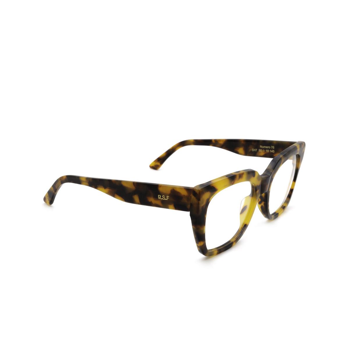 Retrosuperfuture® Cat-eye Eyeglasses: NUMERO 76 color Spotted Havana SH7.