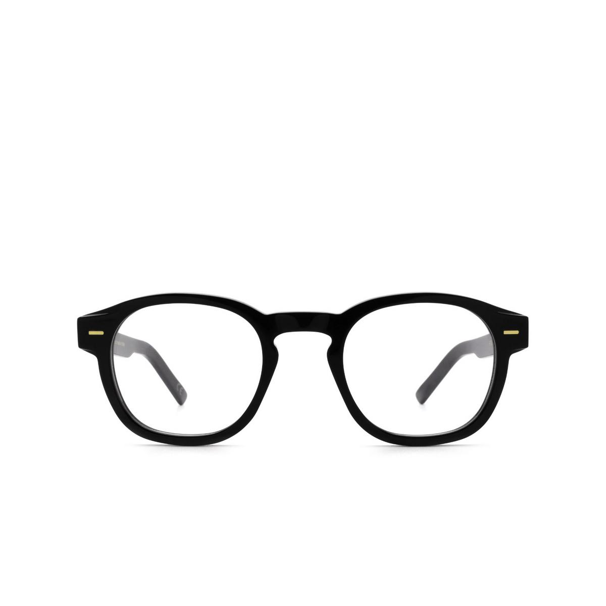 Retrosuperfuture® Square Eyeglasses: NUMERO 80 color Nero Rod - front view.