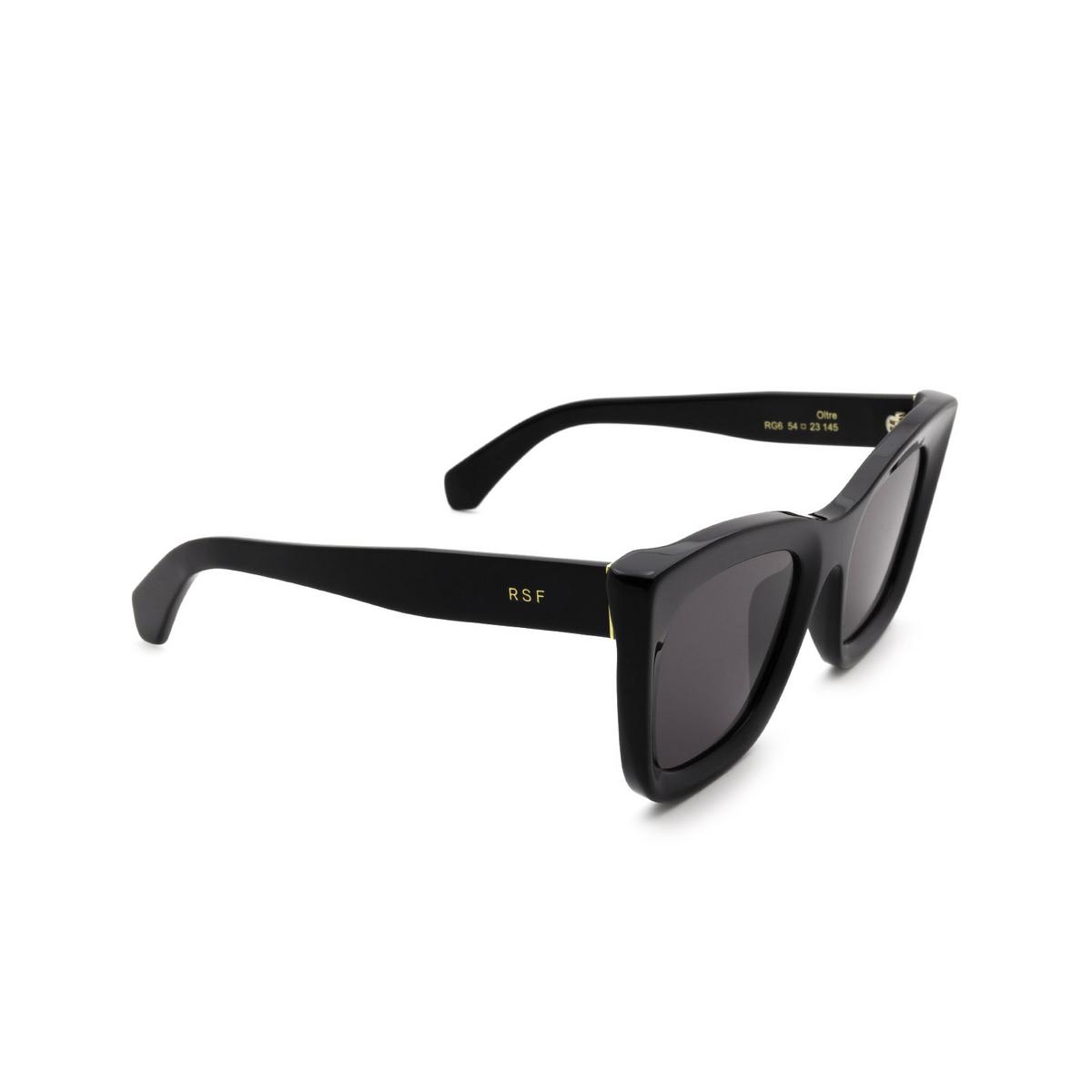 Retrosuperfuture® Square Sunglasses: Oltre color Black RG6 - three-quarters view.
