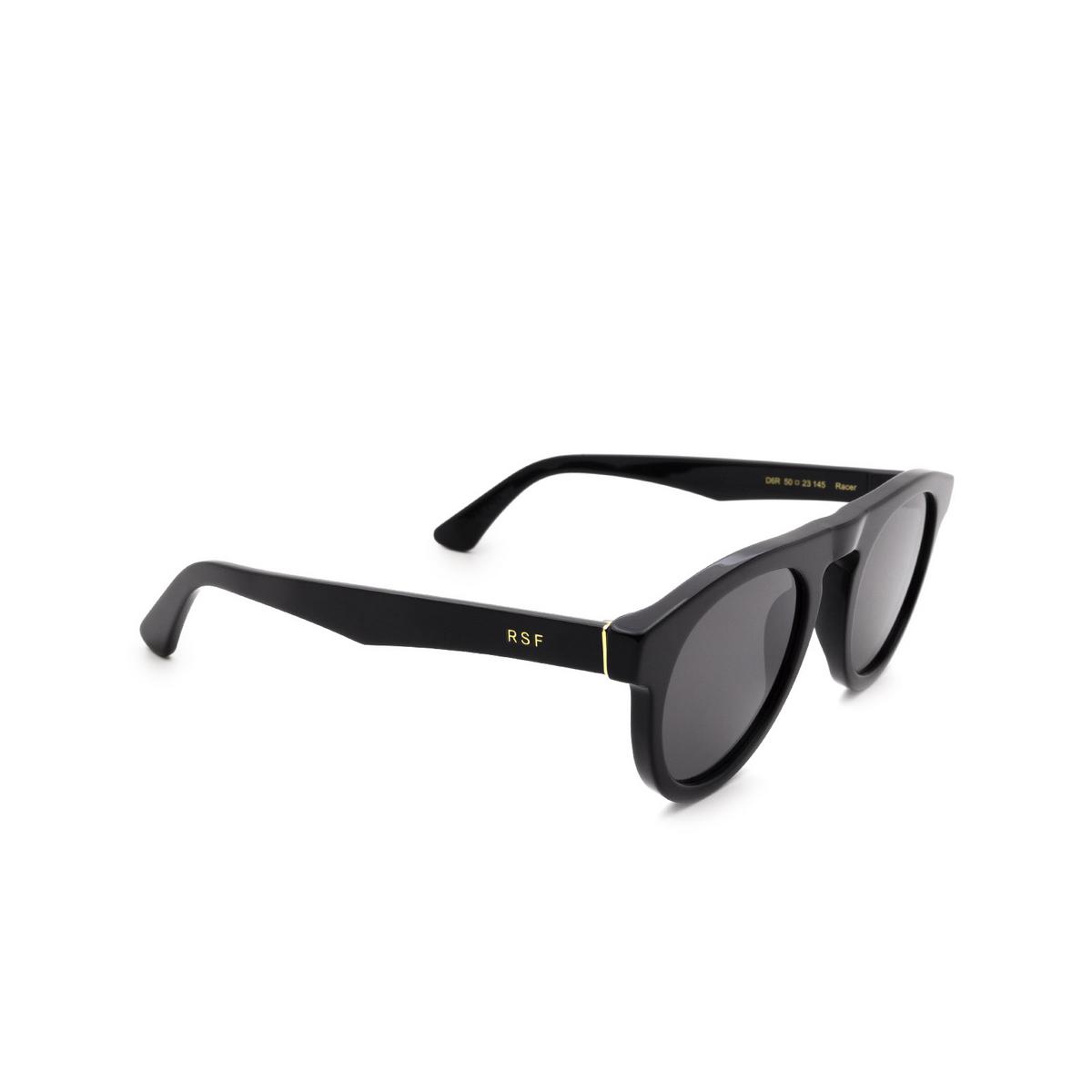 Retrosuperfuture® Round Sunglasses: Racer color Black D6R.