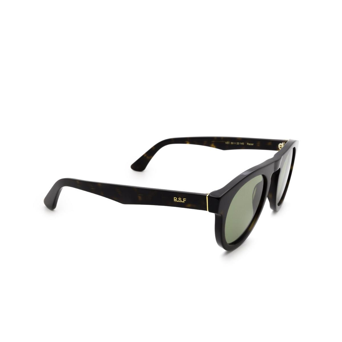 Retrosuperfuture® Round Sunglasses: Racer color 3627 V51 - three-quarters view.