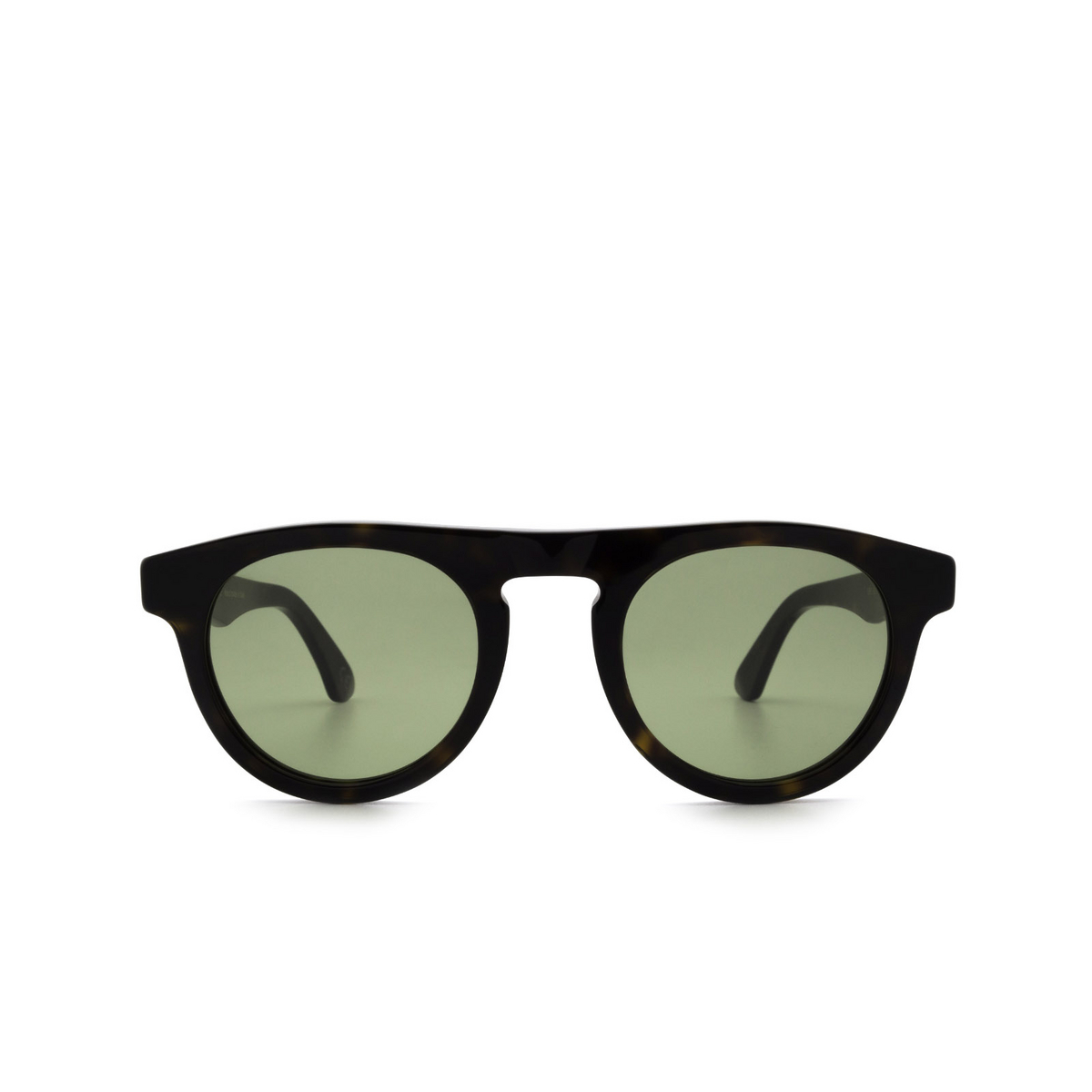 Retrosuperfuture® Round Sunglasses: Racer color 3627 V51 - front view.