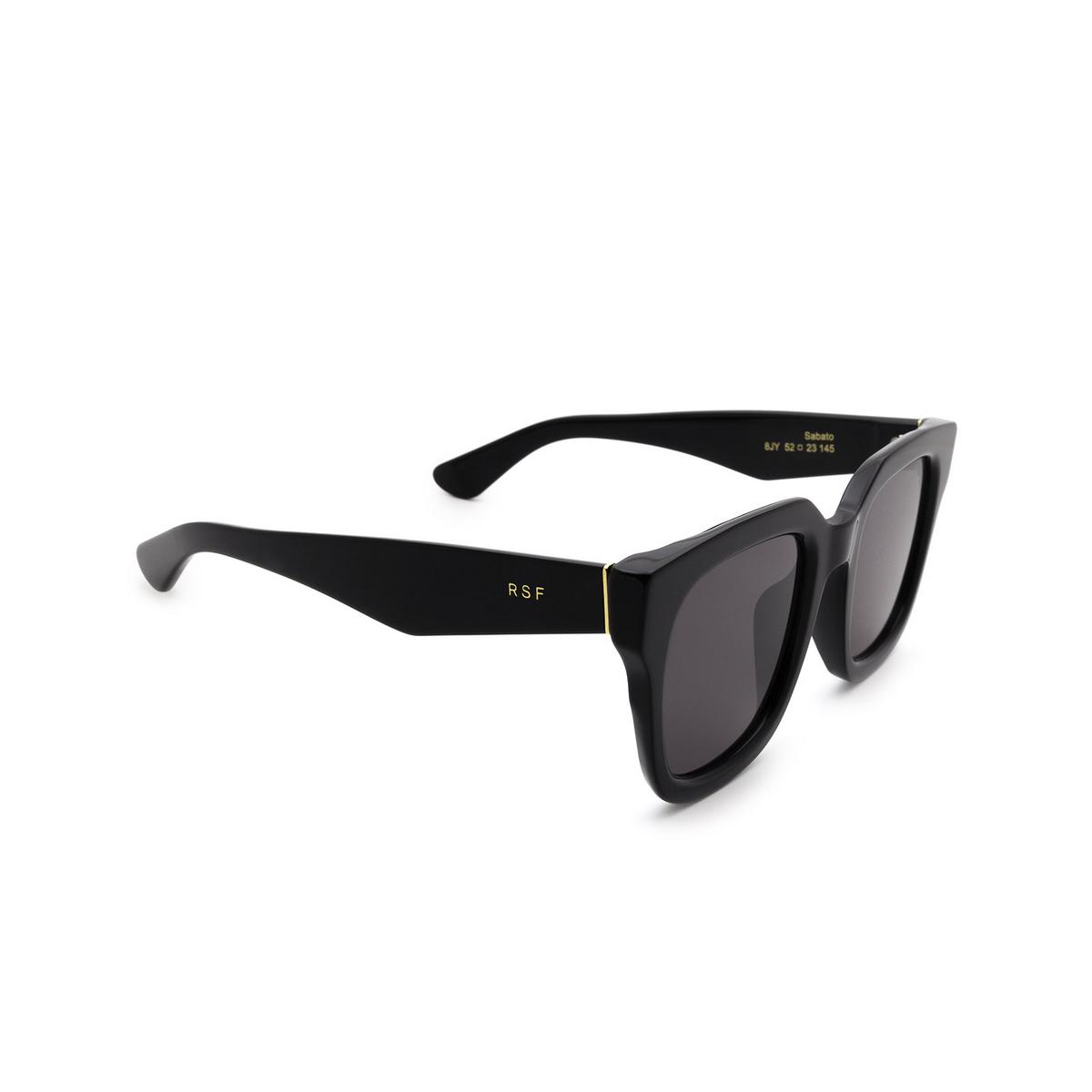 Retrosuperfuture® Square Sunglasses: Sabato color Black 8JY - three-quarters view.