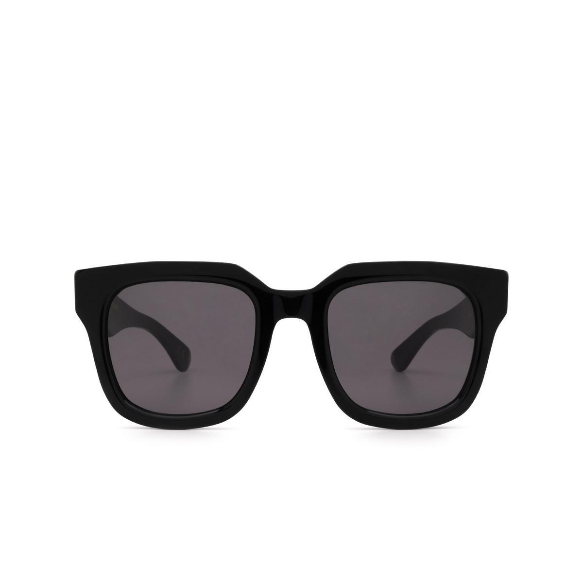 Retrosuperfuture® Square Sunglasses: Sabato color Black 8JY - front view.