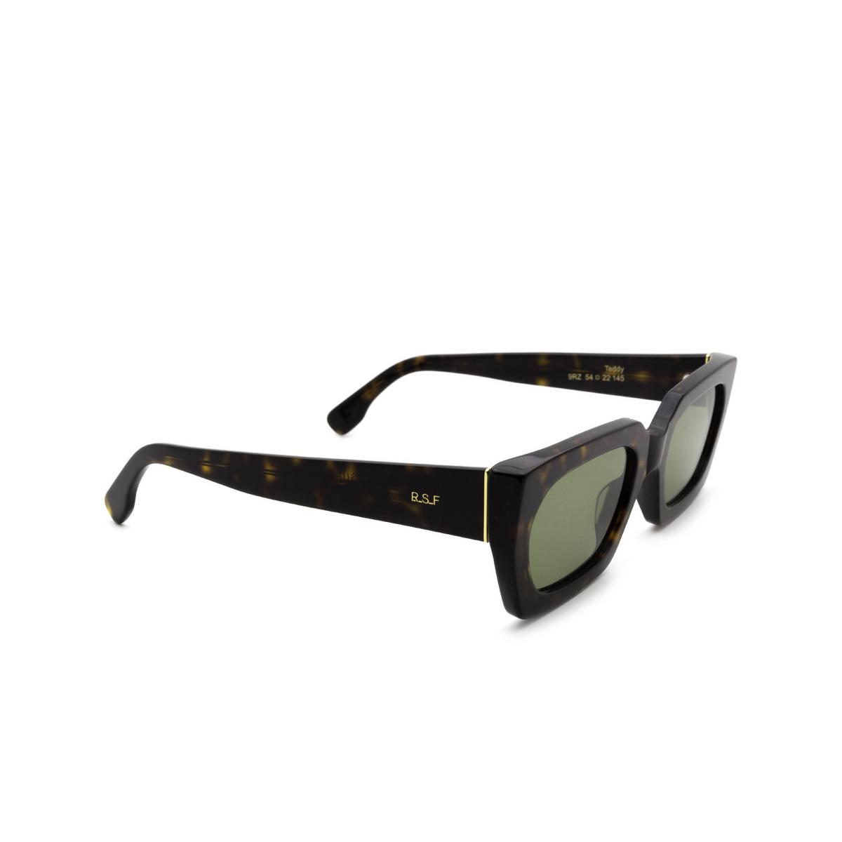 Retrosuperfuture® Rectangle Sunglasses: Teddy color 3627 9RZ - three-quarters view.