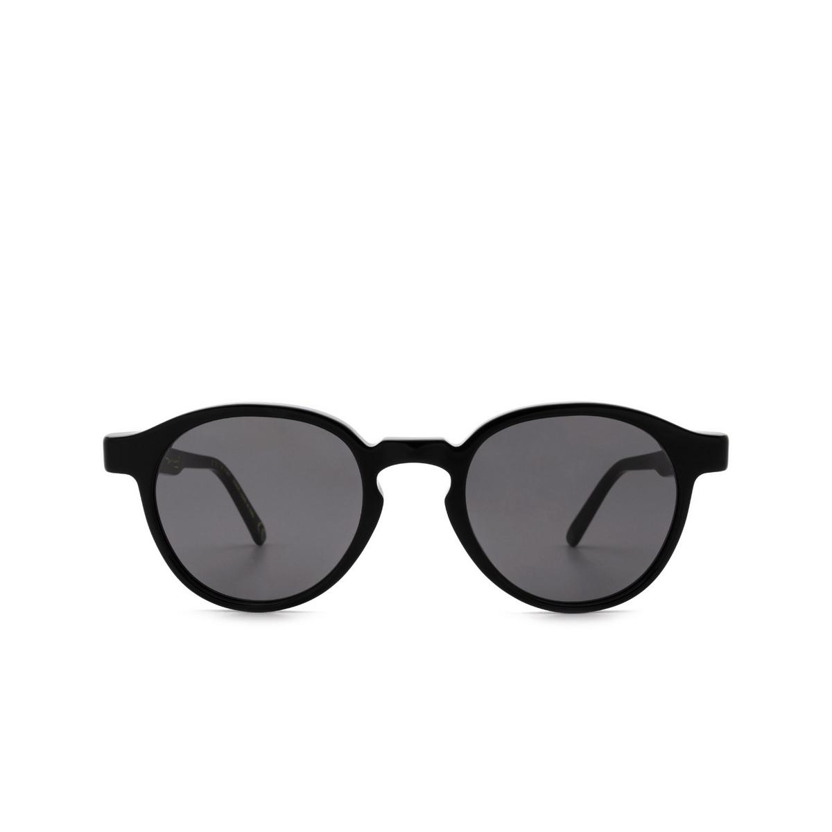 Retrosuperfuture® Round Sunglasses: The Warhol color Black 0Q7 - front view.