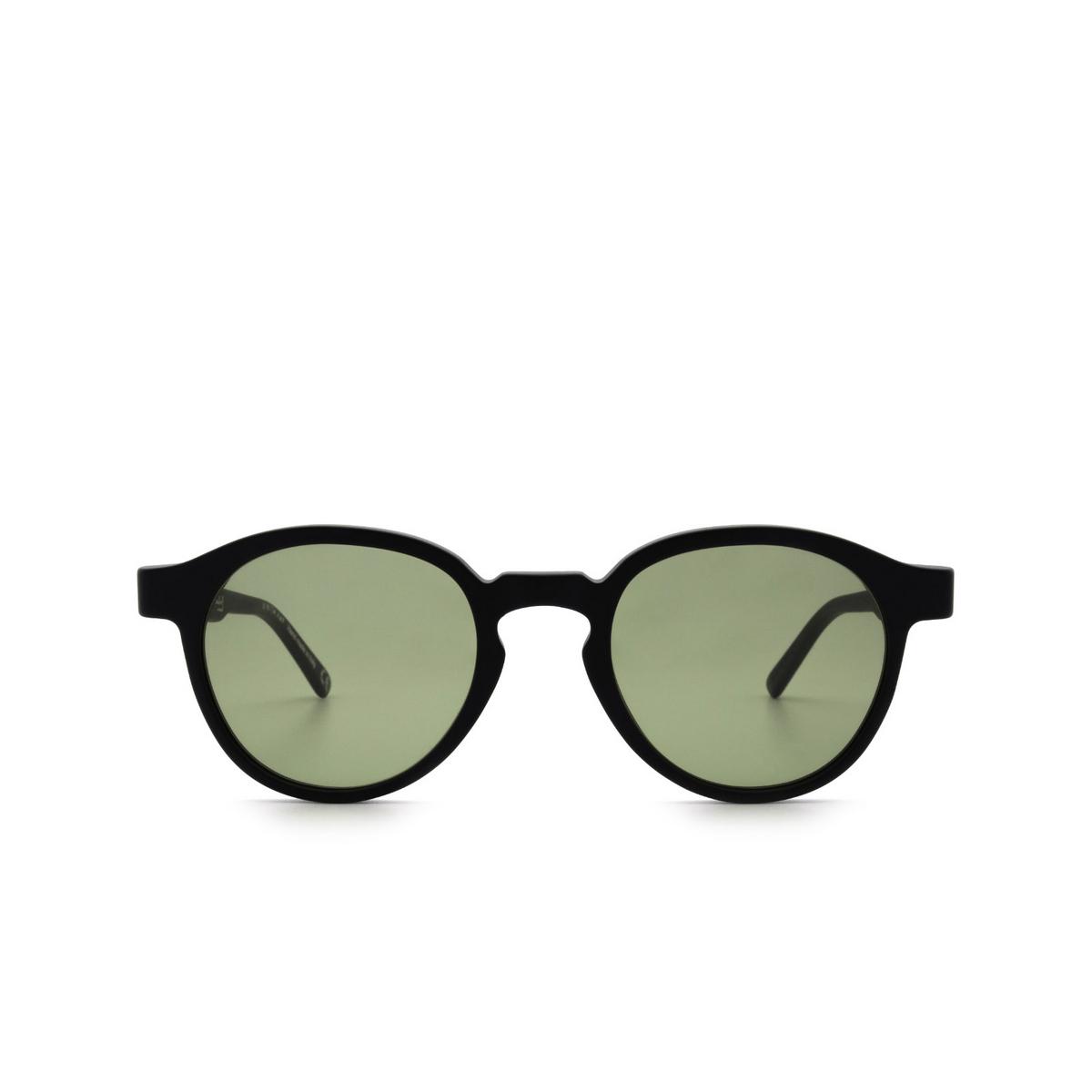 Retrosuperfuture® Round Sunglasses: The Warhol color Matte Black C3L.