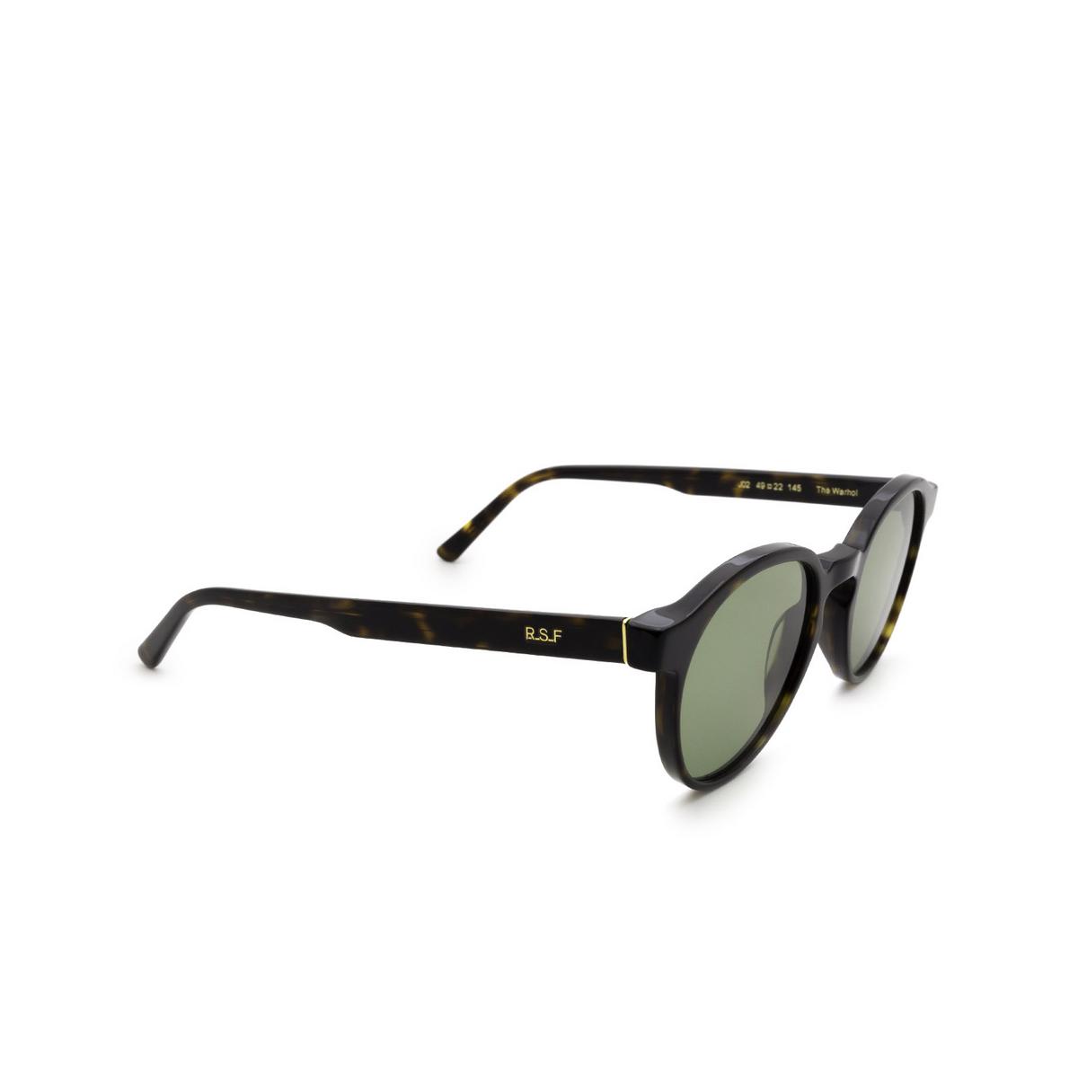 Retrosuperfuture® Round Sunglasses: The Warhol color 3627 J02 - three-quarters view.