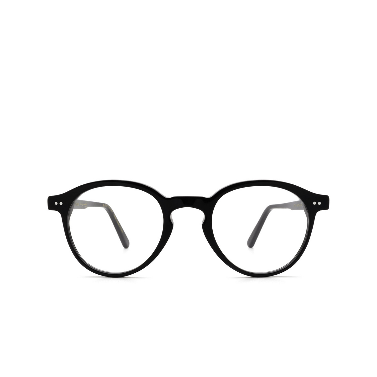 Retrosuperfuture® Round Eyeglasses: The Warhol Optical color Nero IT4 - front view.