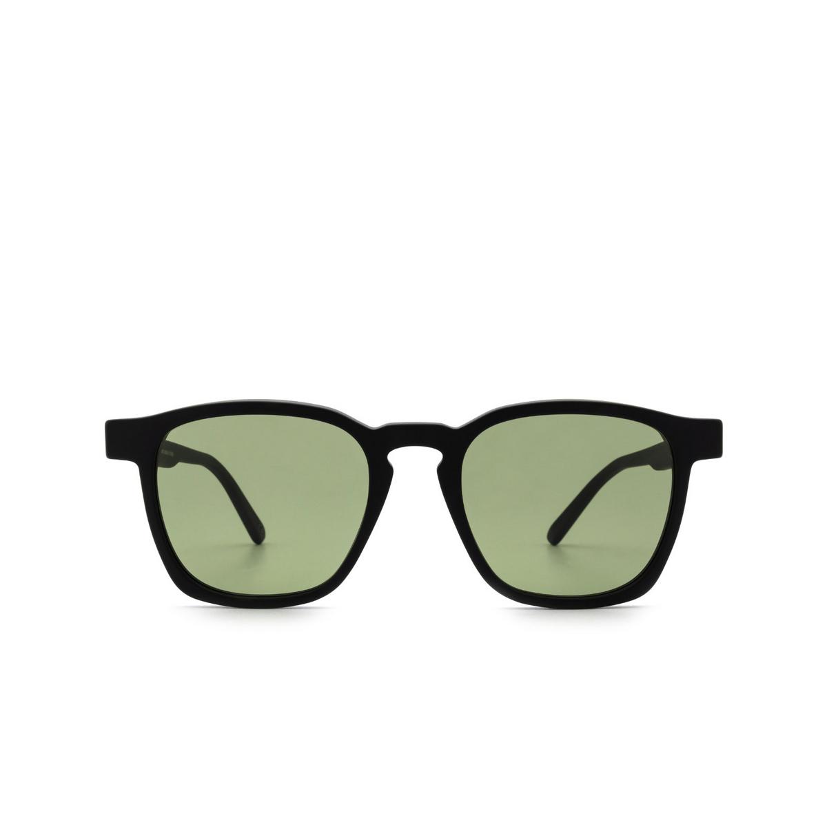 Retrosuperfuture® Square Sunglasses: Unico color Black Matte P6T - front view.