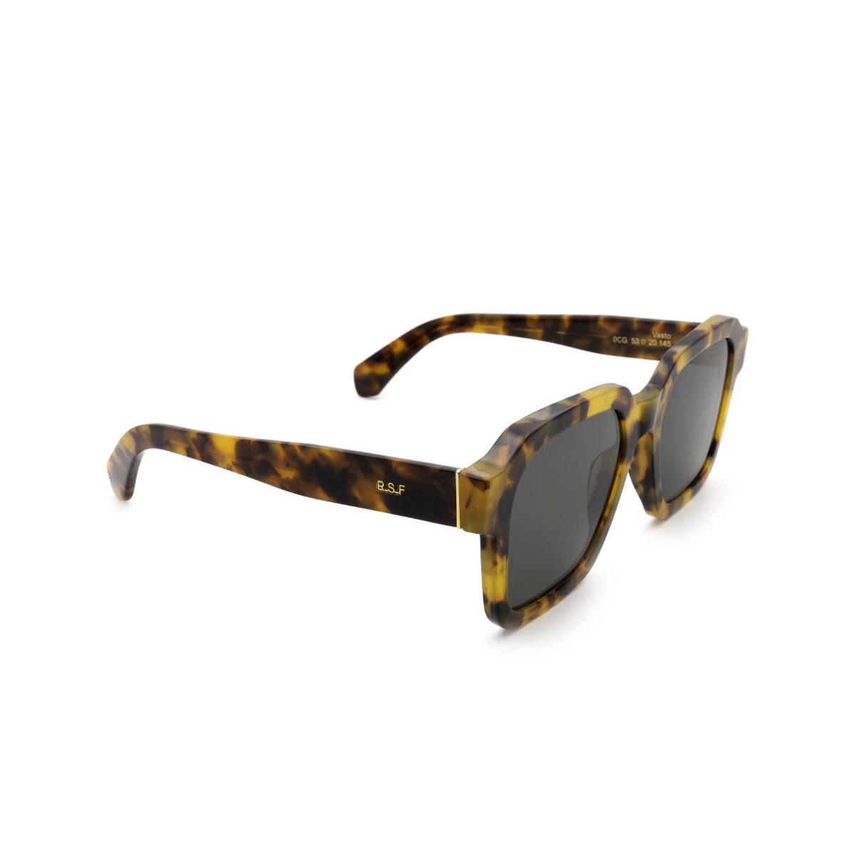 Retrosuperfuture® Square Sunglasses: Vasto color Spotted Havana 0CG - three-quarters view.