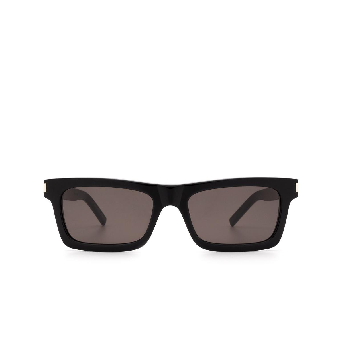 Saint Laurent® Rectangle Sunglasses: Betty SL 461 color Black 001.