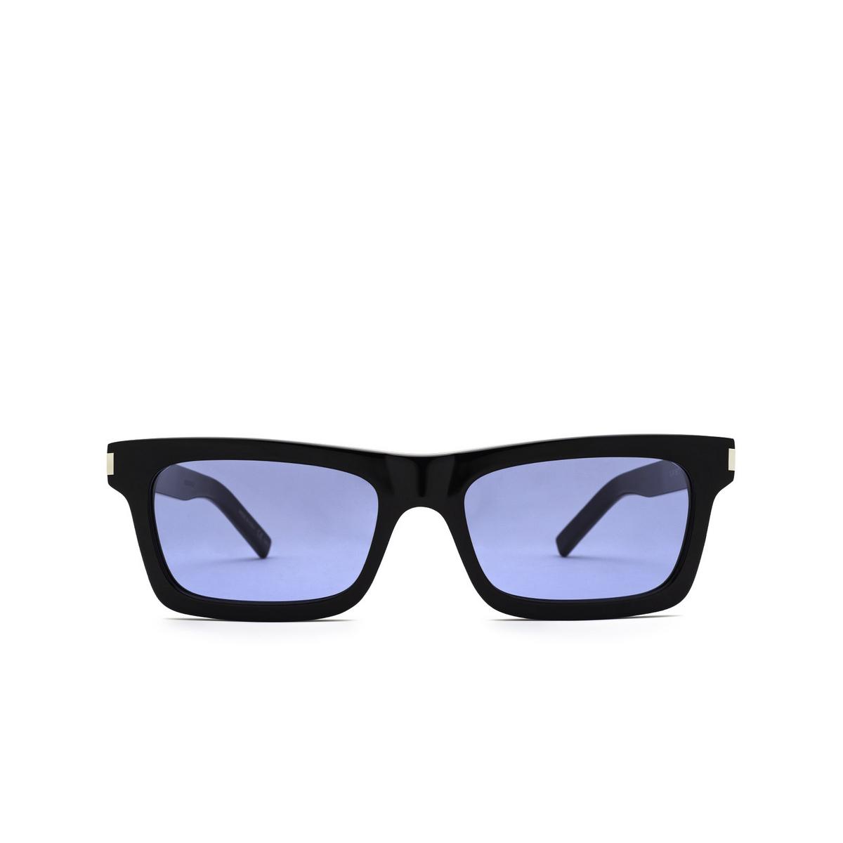 Saint Laurent® Rectangle Sunglasses: Betty SL 461 color Black 009 - front view.