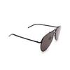 Saint Laurent® Aviator Sunglasses: CLASSIC 11 MASK color Black 002 - product thumbnail 2/3.