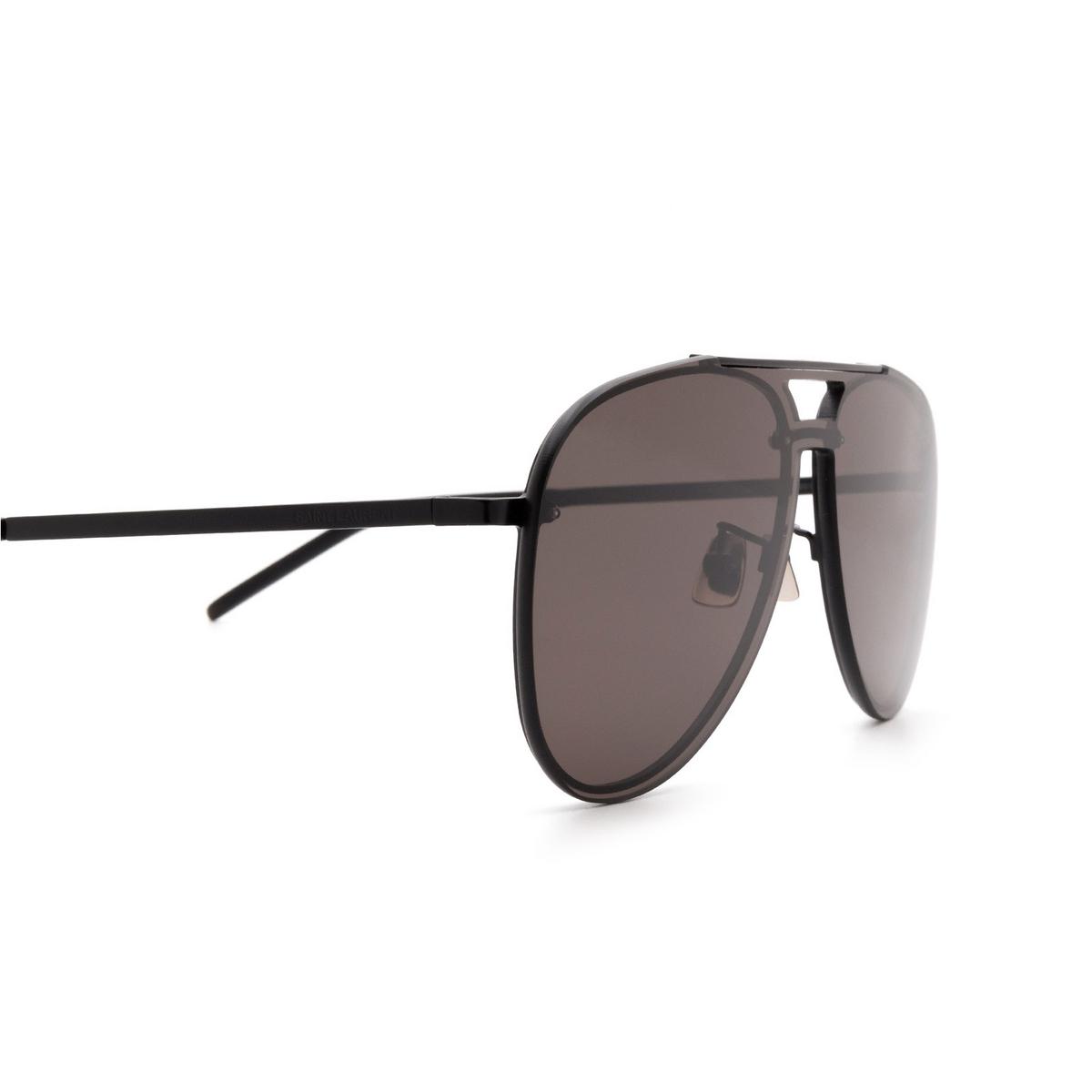 Saint Laurent® Aviator Sunglasses: CLASSIC 11 MASK color Black 002 - 3/3.