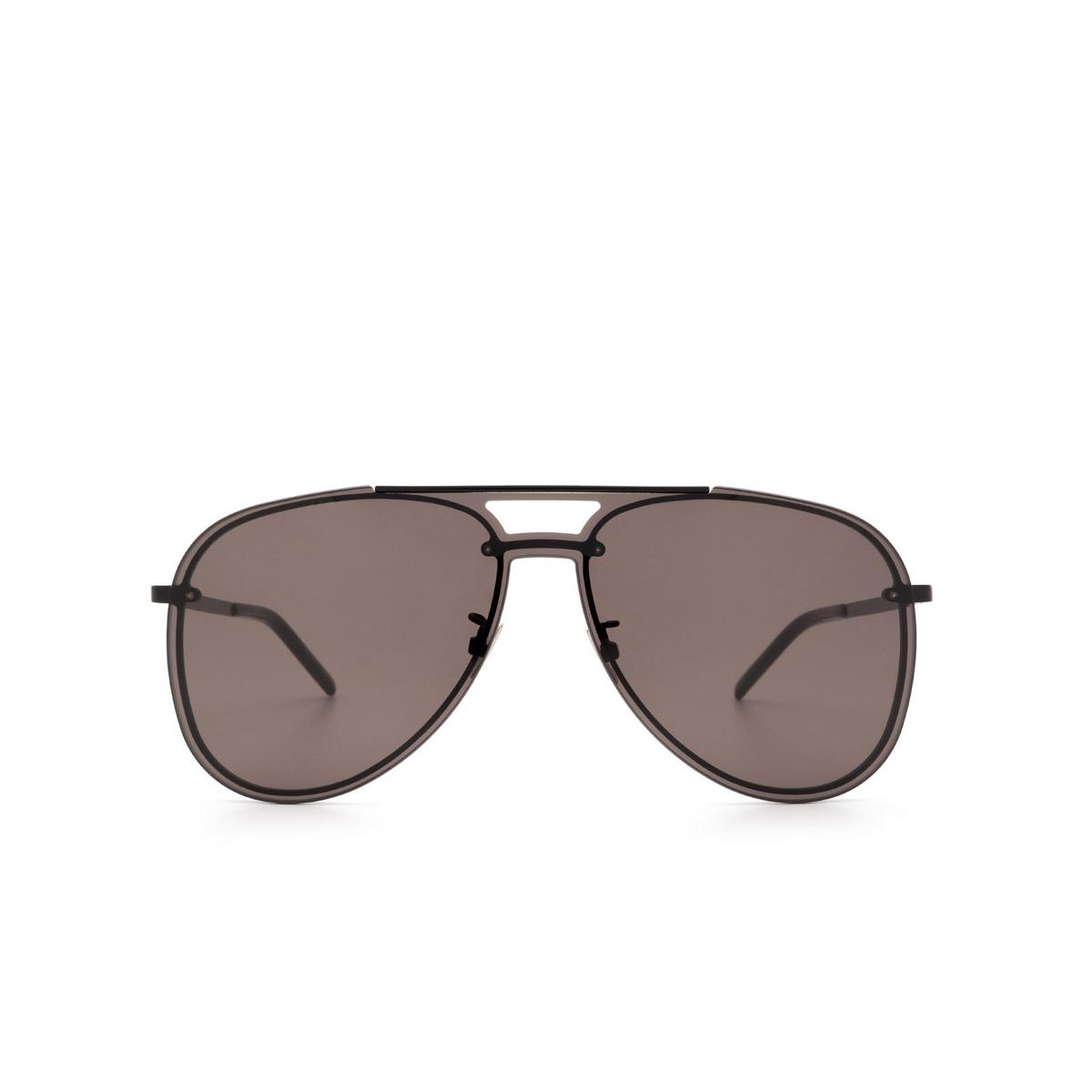 Saint Laurent® Aviator Sunglasses: CLASSIC 11 MASK color Black 002 - 1/3.