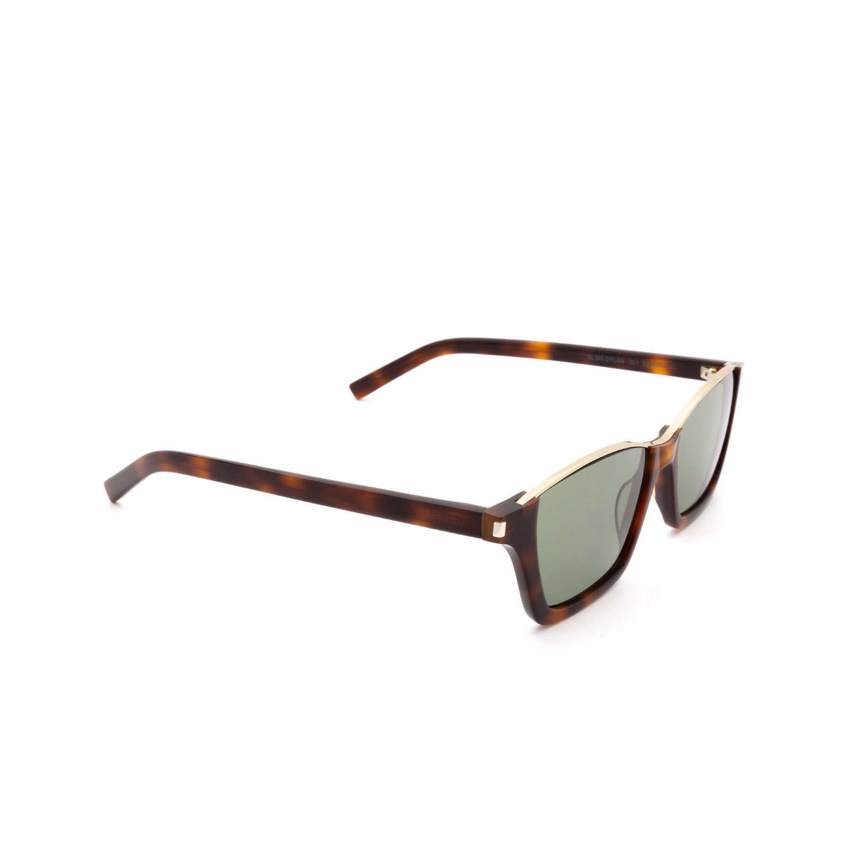 Saint Laurent® Square Sunglasses: Dylan SL 365 color Havana 001 - 2/3.