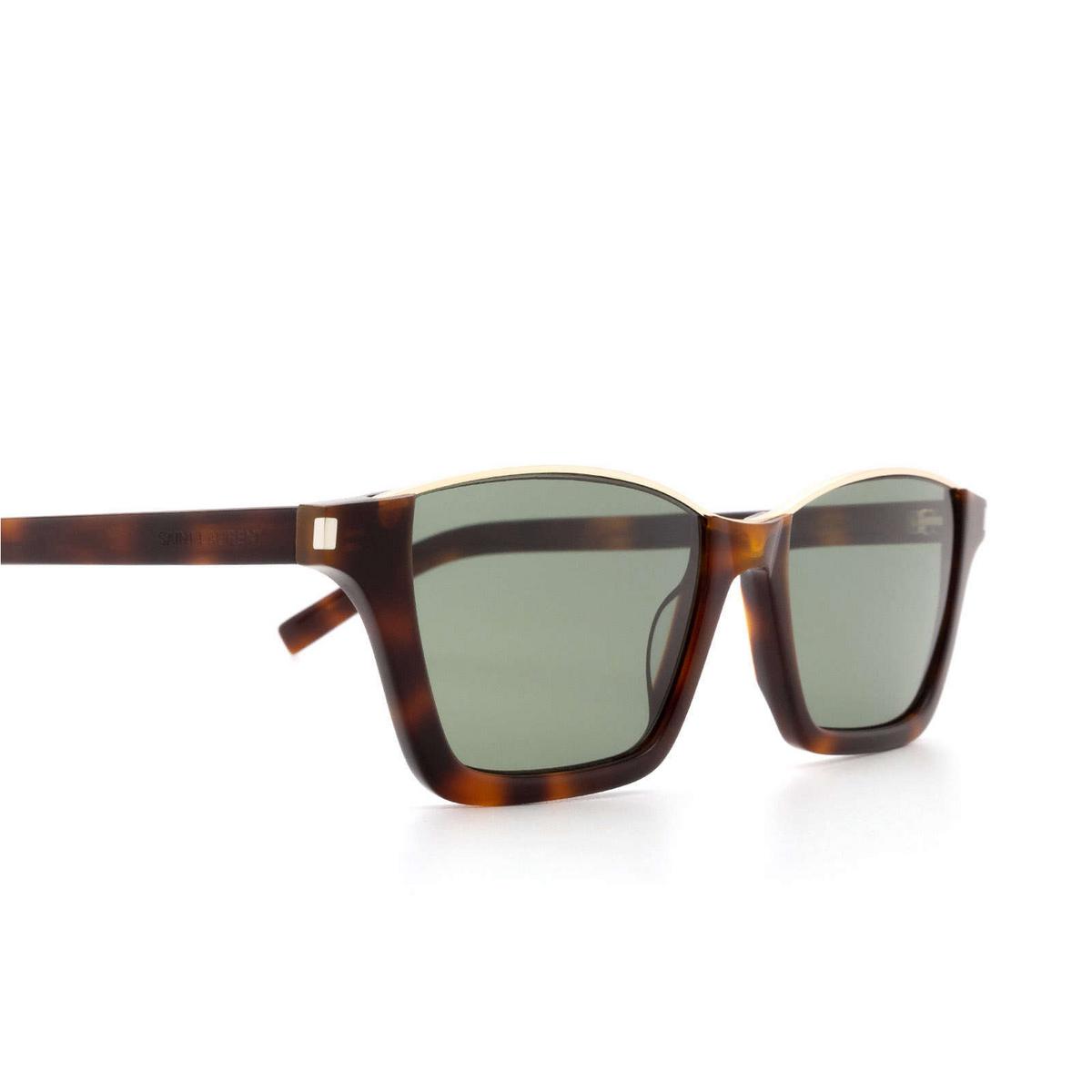 Saint Laurent® Square Sunglasses: Dylan SL 365 color Havana 001 - 3/3.