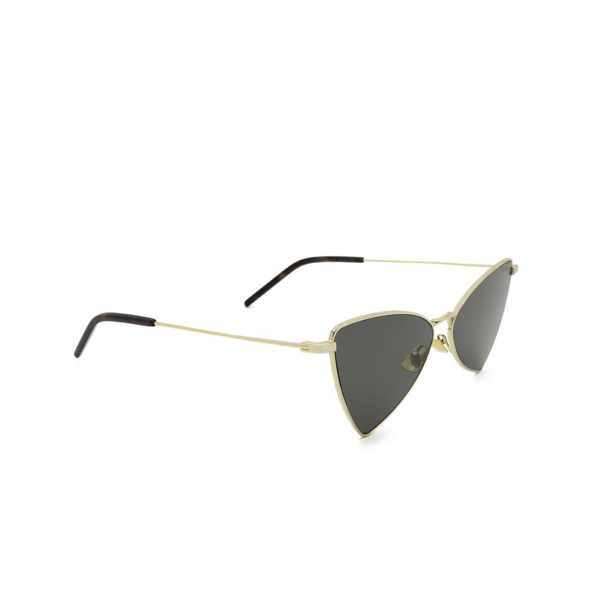 Saint Laurent® Irregular Sunglasses: Jerry SL 303 color Gold 004 - three-quarters view.
