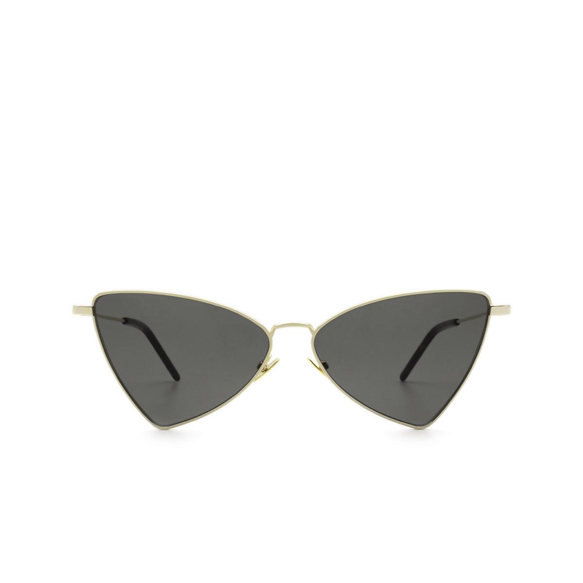 Saint Laurent® Irregular Sunglasses: Jerry SL 303 color Gold 004 - front view.
