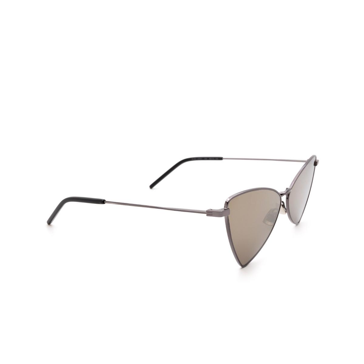 Saint Laurent® Irregular Sunglasses: Jerry SL 303 color Ruthenium 008 - three-quarters view.