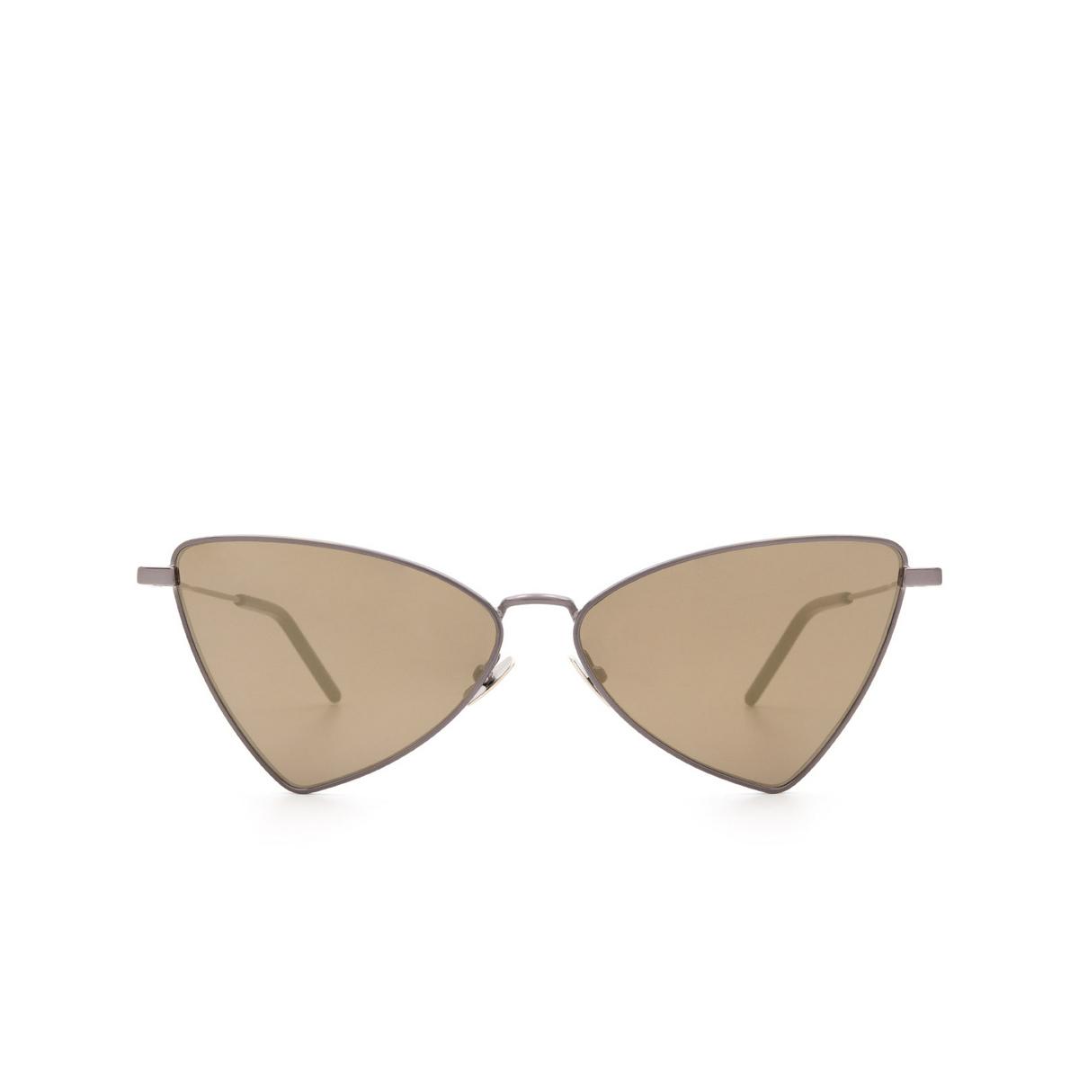 Saint Laurent® Irregular Sunglasses: Jerry SL 303 color Ruthenium 008 - front view.