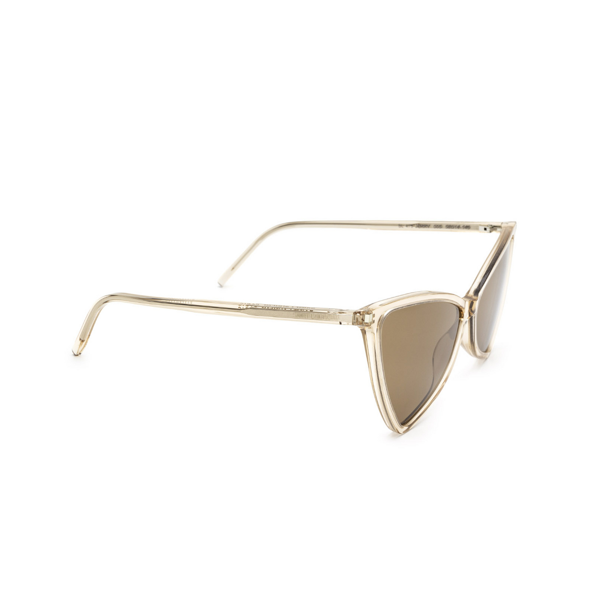 Saint Laurent® Irregular Sunglasses: Jerry SL 475 color Nude 005 - three-quarters view.
