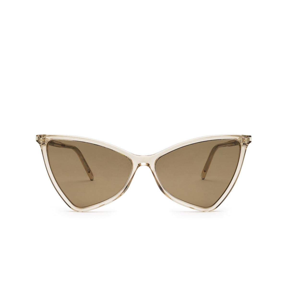 Saint Laurent® Irregular Sunglasses: Jerry SL 475 color Nude 005 - front view.
