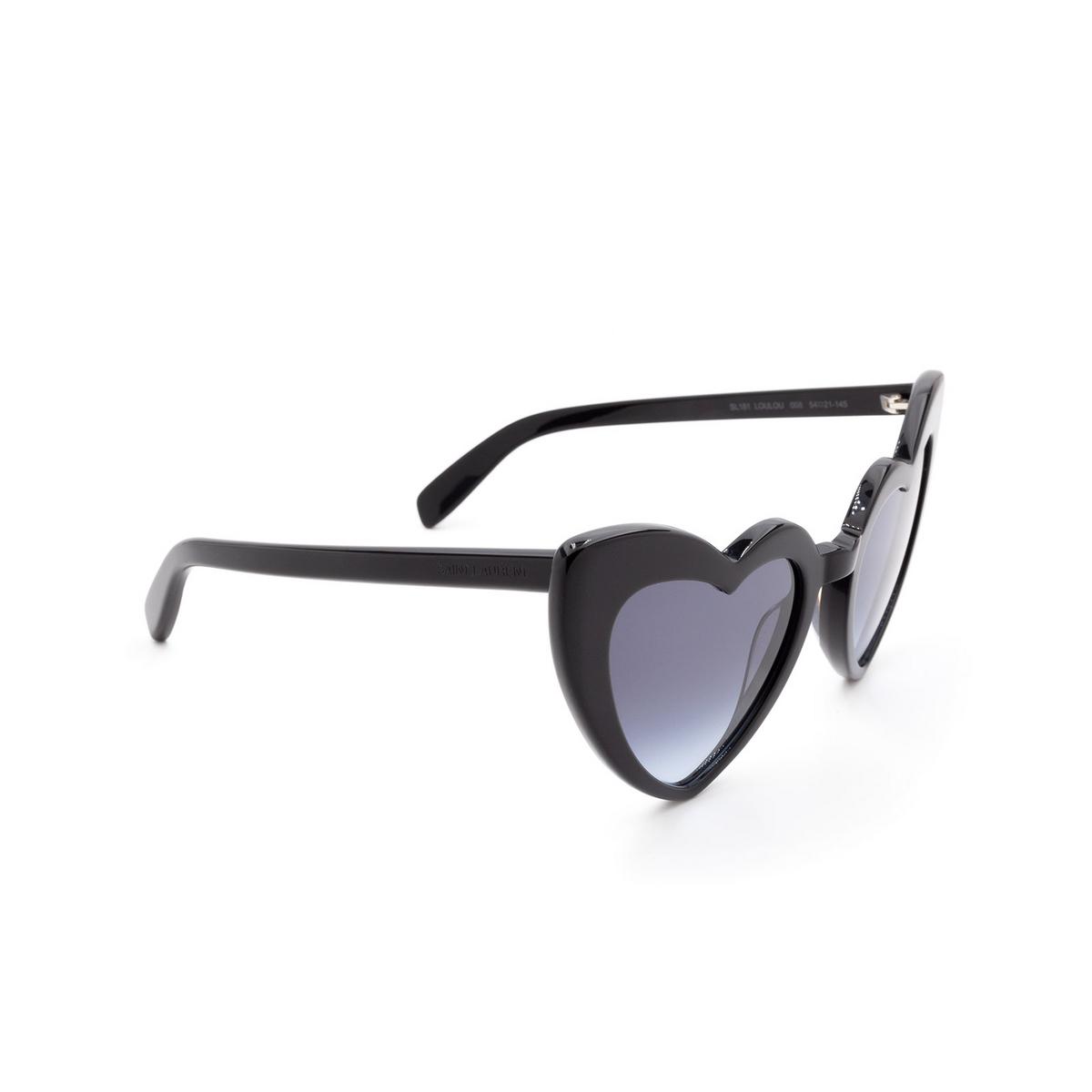 Saint Laurent® Irregular Sunglasses: Loulou SL 181 color Black 008.