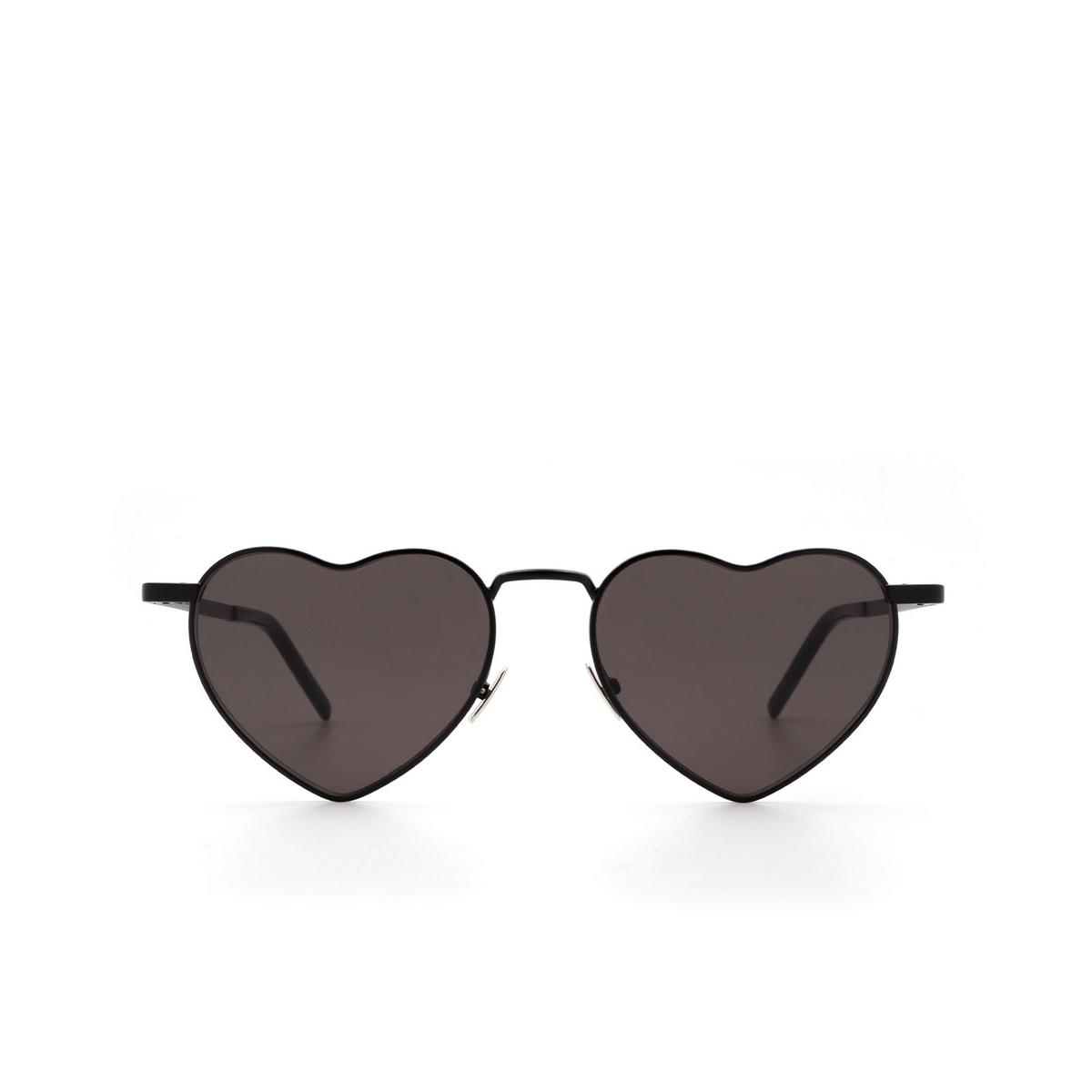 Saint Laurent® Irregular Sunglasses: Loulou SL 301 color Black 002 - front view.