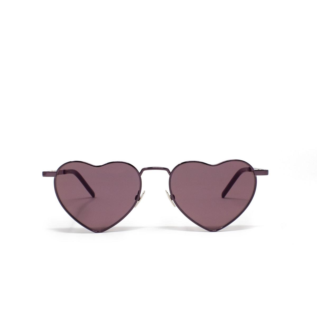 Saint Laurent® Irregular Sunglasses: Loulou SL 301 color Pink 007 - front view.