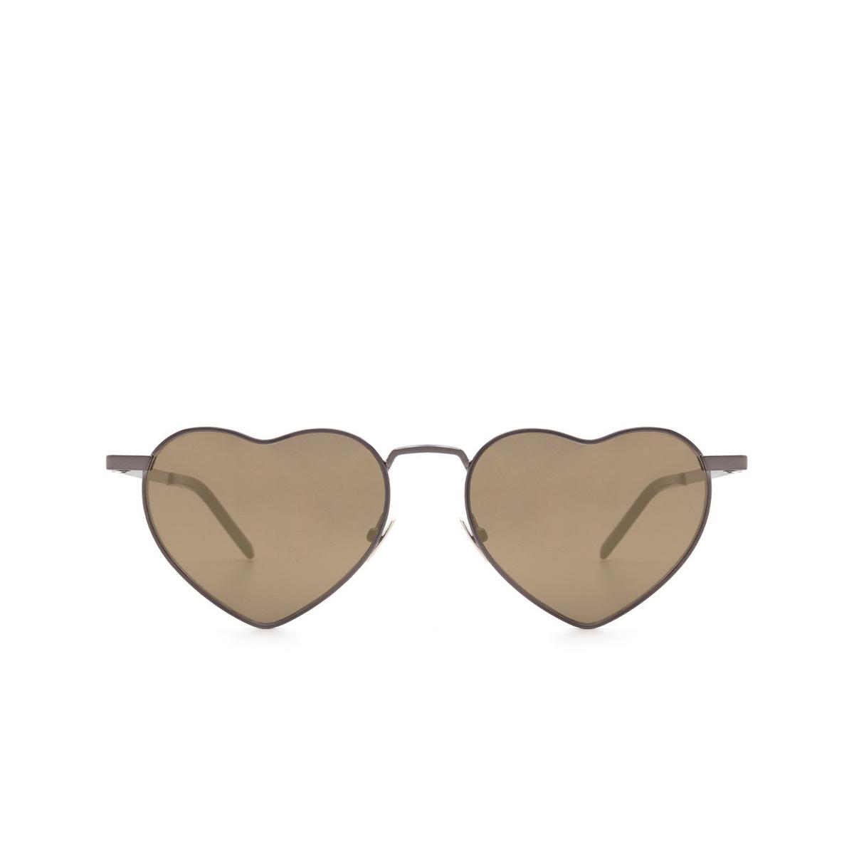 Saint Laurent® Irregular Sunglasses: Loulou SL 301 color Ruthenium 008 - front view.