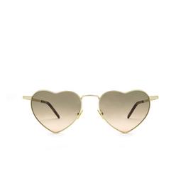 Saint Laurent® Irregular Sunglasses: Loulou SL 301 color Gold 011.
