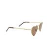 Saint Laurent® Irregular Sunglasses: Loulou SL 301 color Gold 012 - product thumbnail 2/3.