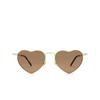 Saint Laurent® Irregular Sunglasses: Loulou SL 301 color Gold 012 - product thumbnail 1/3.