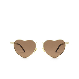 Saint Laurent® Irregular Sunglasses: Loulou SL 301 color Gold 012.