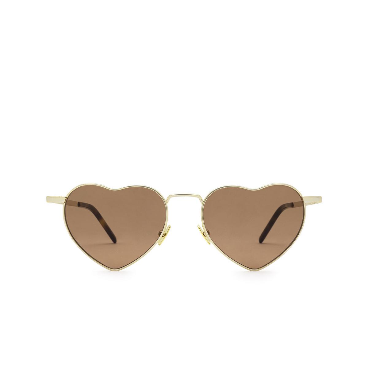 Saint Laurent® Irregular Sunglasses: Loulou SL 301 color Gold 012 - front view.