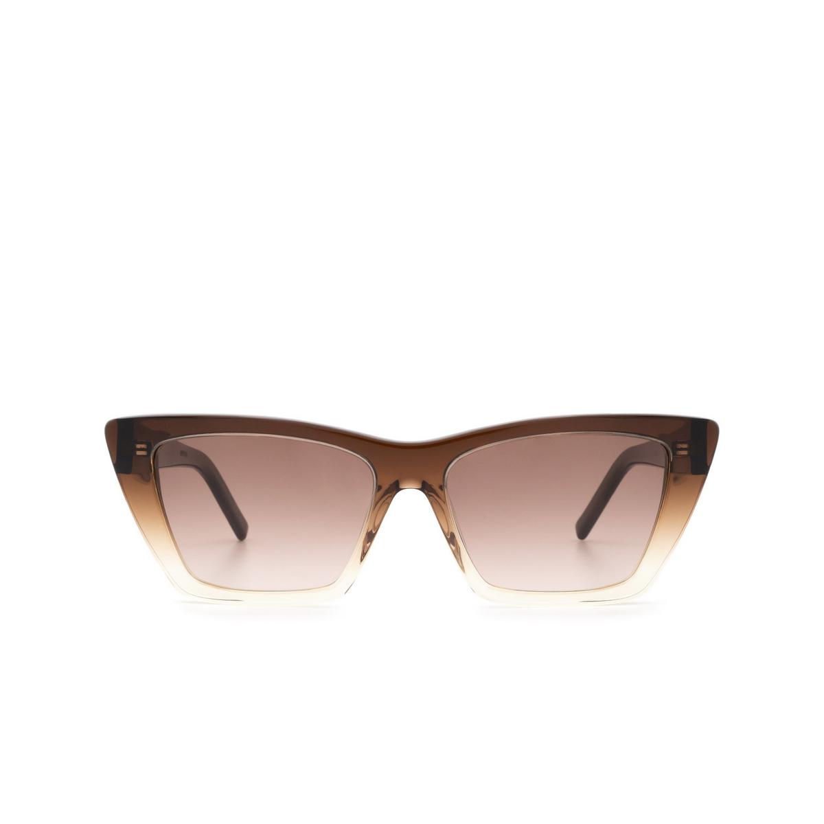 Saint Laurent® Cat-eye Sunglasses: Mica SL 276 color Brown 019.
