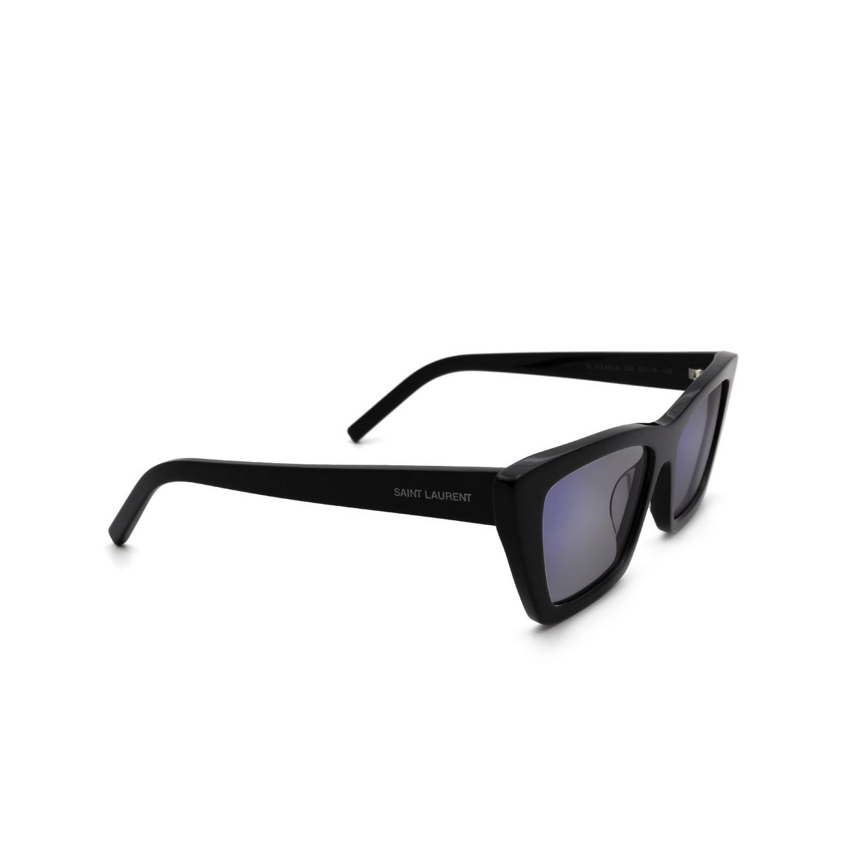 Saint Laurent® Cat-eye Sunglasses: Mica SL 276 color Shiny Black 025.
