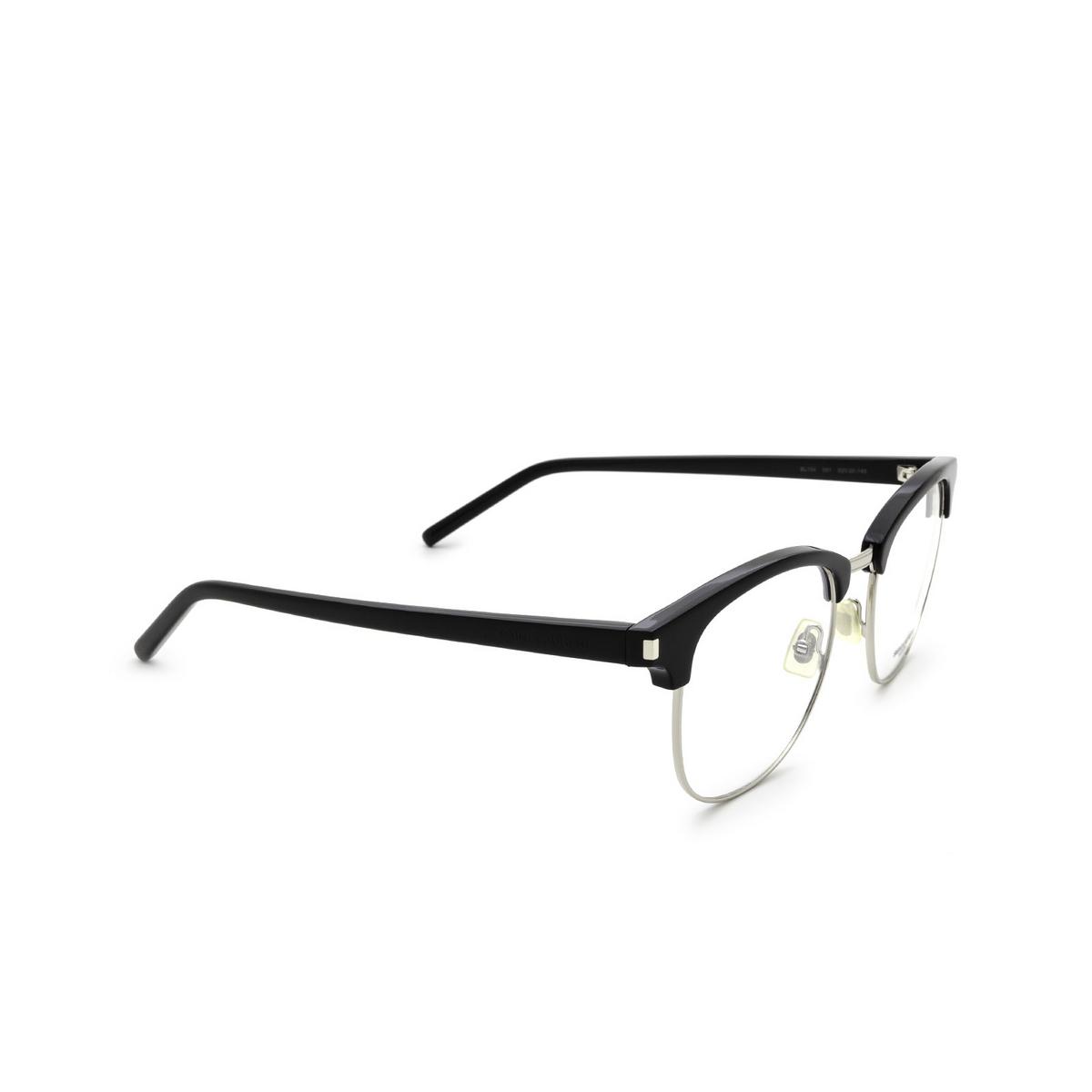 Saint Laurent® Square Eyeglasses: SL 104 color Black 001.